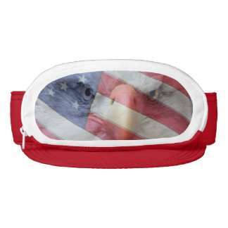American Flag Bald Eagle Bird USA Cap-Sac Hat