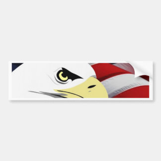 American Flag/Bald Eagle Bumper Sticker