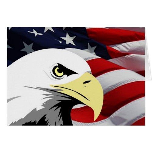 American Flag/Bald Eagle zazzle_card