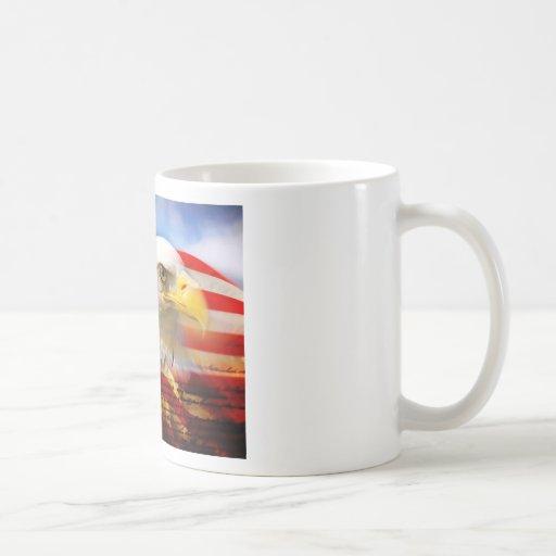 American Flag Bald Eagle Coffee Mug