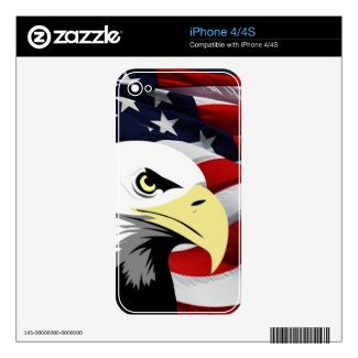 American Flag/Bald Eagle iPhone 4/4S Skin Decals For The Iphone 4