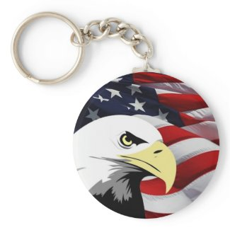 American Flag/Bald Eagle Keychain