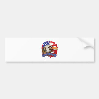 American Flag Bald Eagle Live Free Or Die Car Bumper Sticker
