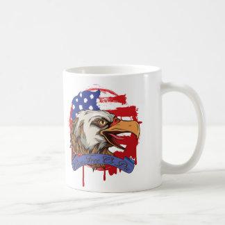 American Flag Bald Eagle Live Free Or Die Coffee Mug