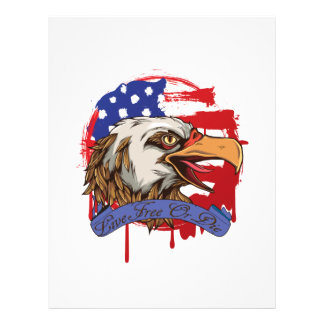 American Flag Bald Eagle Live Free Or Die Letterhead
