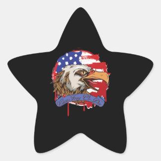 American Flag Bald Eagle Live Free Or Die Star Sticker