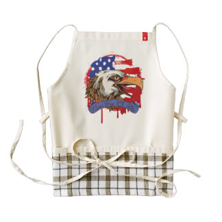 American Flag Bald Eagle Live Free Or Die Zazzle HEART Apron