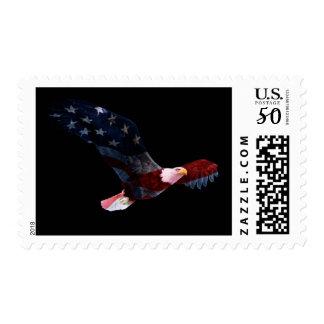 American Flag Bald Eagle Postage