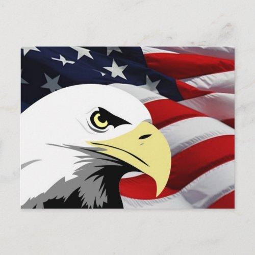 American Flag/Bald Eagle zazzle_postcard