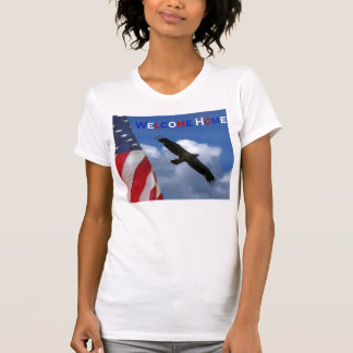 American flag bald eagle tank top welcome home