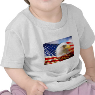 American Flag Bald Eagle T Shirts