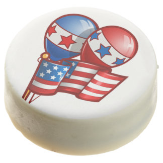 American Flag & Balloons 4th of July Cookies