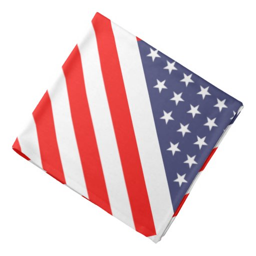 American flag bandana   patriotic stars & stripes