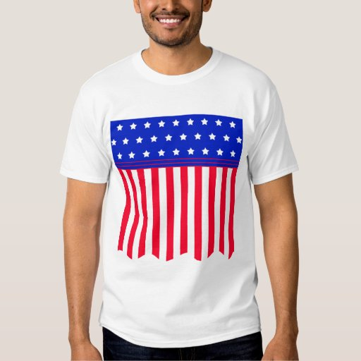 American Flag Banner Products Tee Shirt