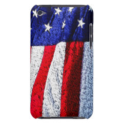 American Flag Barely There iPod Covers
