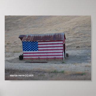 American Flag Barn by Martie Hevia - Photo Print