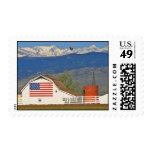 American Flag Barn Postage Stamps