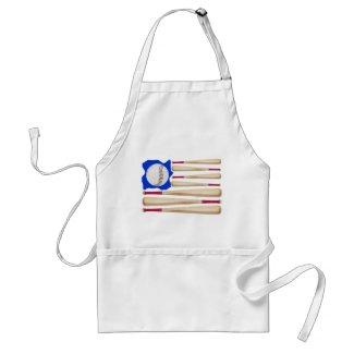 American Flag Baseball Gifts apron