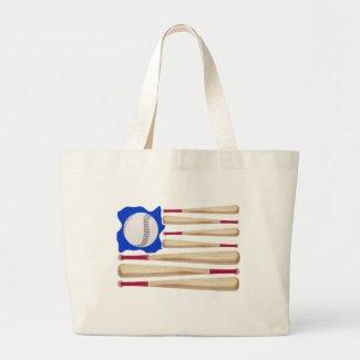 American Flag Baseball Gifts Canvas Bags