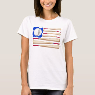 American Flag Baseball T-shirts