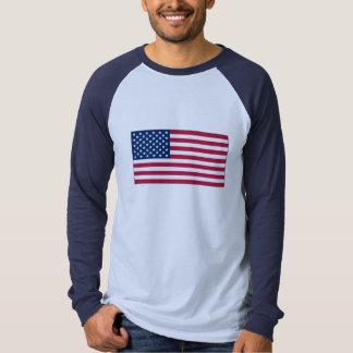 American FlagBasic Long Sleeve Raglan t-shirt