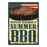 American Flag BBQ Invitations