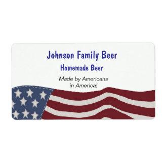 American Flag Beer Label