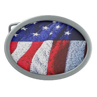 American Flag Belt Buckle