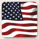 American Flag Beverage Coasters