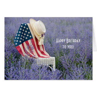 American Flag Birthday Card