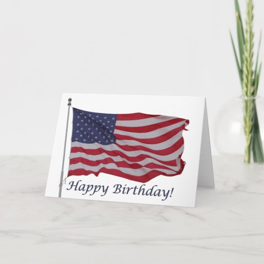 american flag birthday card zazzle com