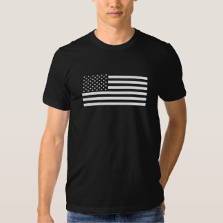 American Flag - Black and White Version T Shirt