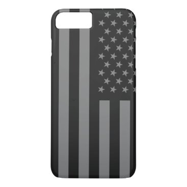 USA Themed American Flag Black Gray iPhone 7 Plus Case