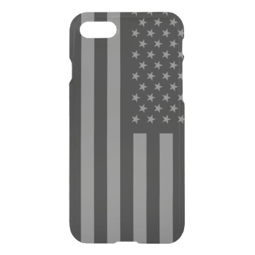 USA Themed American Flag Black Gray iPhone 8/7 Case