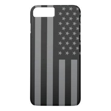 USA Themed American Flag Black Gray iPhone 8 Plus/7 Plus Case