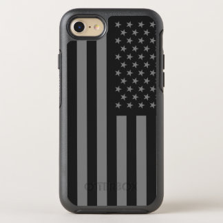 American Flag Black Gray OtterBox Symmetry iPhone 7 Case