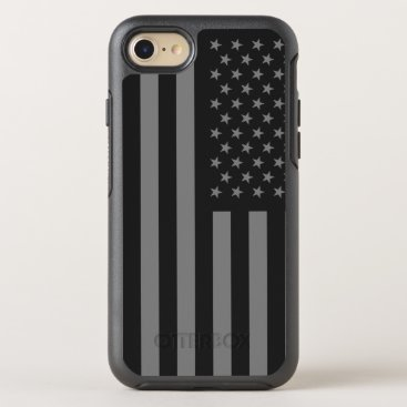 USA Themed American Flag Black Gray OtterBox Symmetry iPhone 7 Case