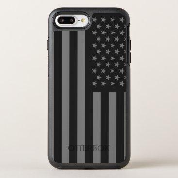 USA Themed American Flag Black Gray OtterBox Symmetry iPhone 7 Plus Case
