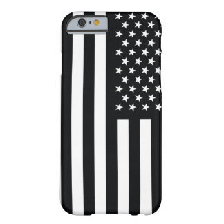 American Flag Black White Barely There iPhone 6 Case