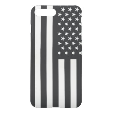 USA Themed American Flag Black White iPhone 7 Plus Case