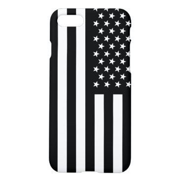 USA Themed American Flag Black White iPhone 8/7 Case