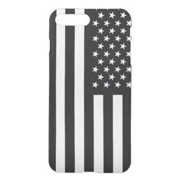 USA Themed American Flag Black White iPhone 8 Plus/7 Plus Case