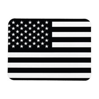 American Flag Black White Magnet