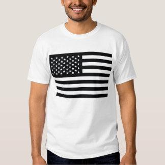 American Flag Black White T-shirt