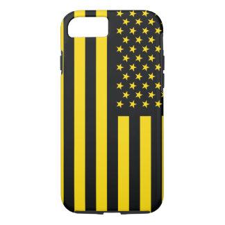 American Flag Black Yellow iPhone 8/7 Case
