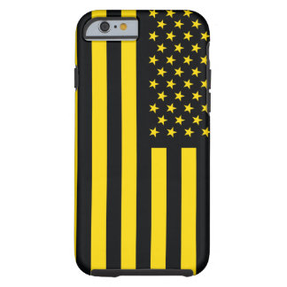 American Flag Black Yellow Tough iPhone 6 Case