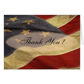American Flag Blank Thank You Cards