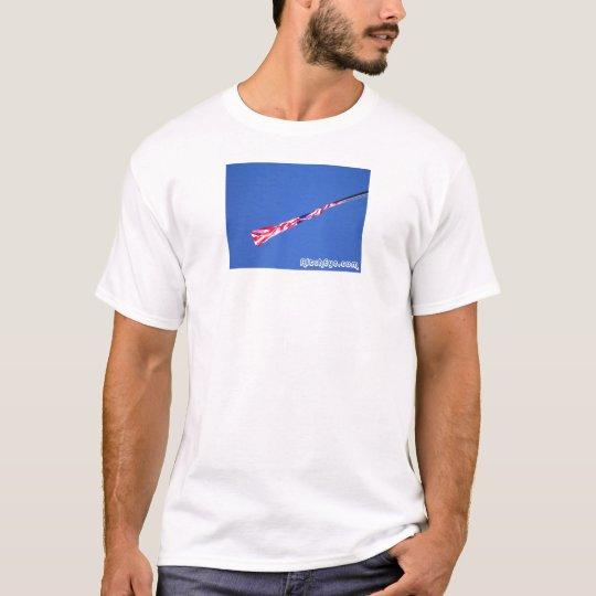 American Flag Blowing T-Shirt