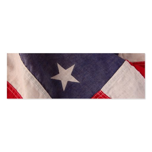 American flag bookmark Double-Sided mini business cards (Pack of 20)
