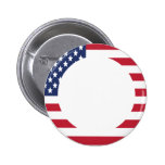 American Flag Border custom text 2 Inch Round Button